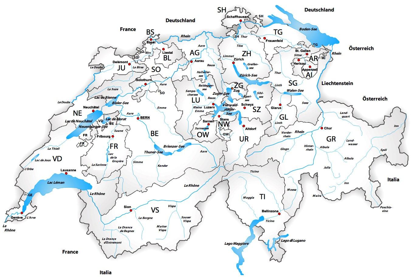 Einsatzgebiet | Coverage area | Reinigungspersonal | reinigungsagentur.ch